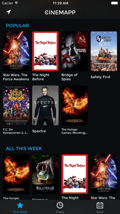 Cinemapp: Movies in Kinepolis, Euroscoop, UGC, ...