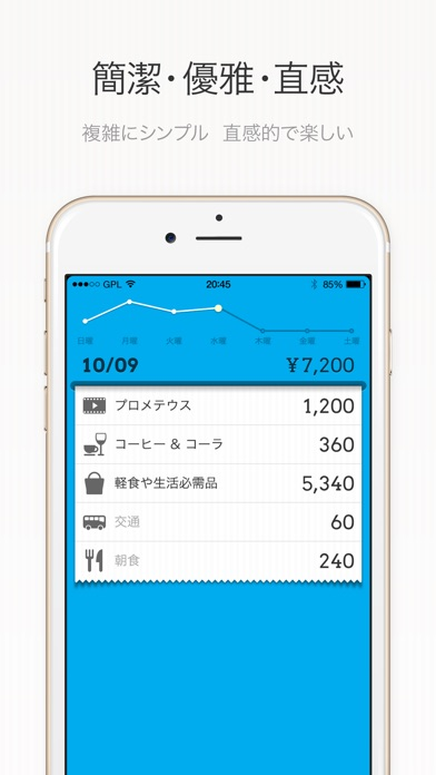 DailyCost - 優雅な簿記 screenshot1