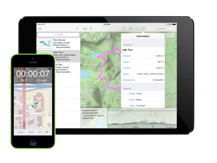 TrailRunner touch — GPS Route Planner