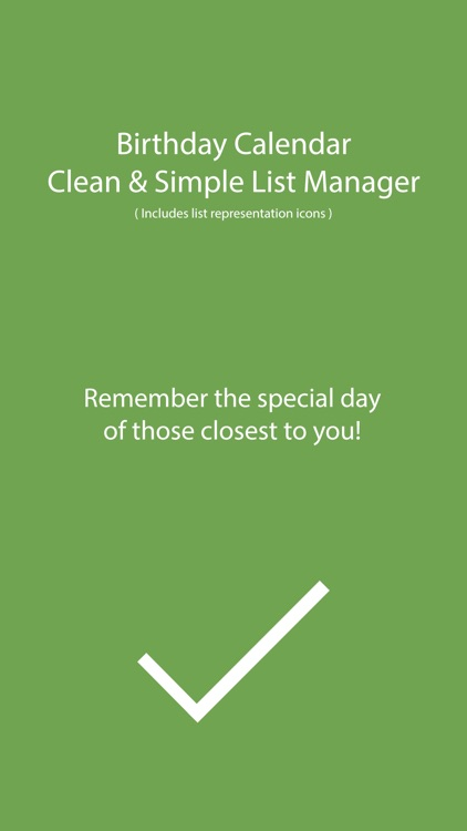 Birthday Calendar - Clean & Simple List Manager