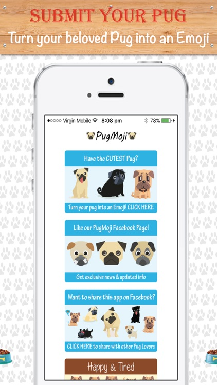 PugMoji - Pug Lovers Emojis and Stickers! screenshot-4