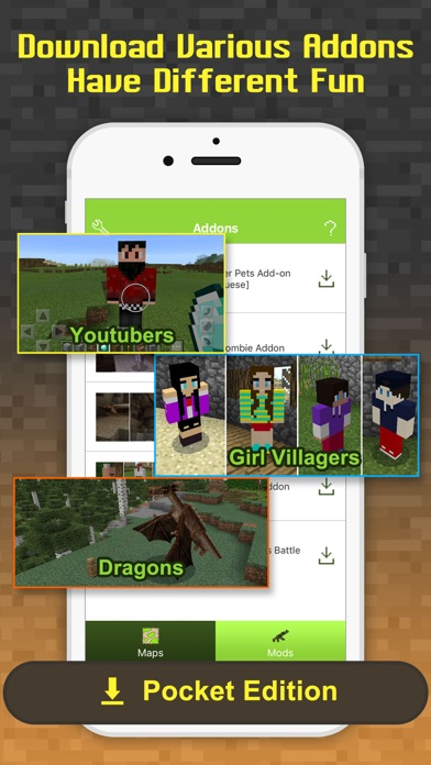 Free Addons - MCPE maps & add ons for Minecraft PE - AppRecs