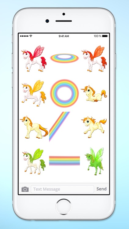 Unicorns and Rainbows Sticker Pack screenshot-4