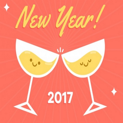Happy New Year all GIF stickers for iMessage