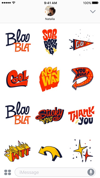 BlaBla Stickers screenshot-1