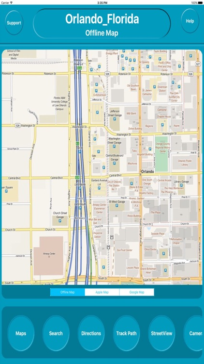 Orlando Florida Offline City Maps with Navigation