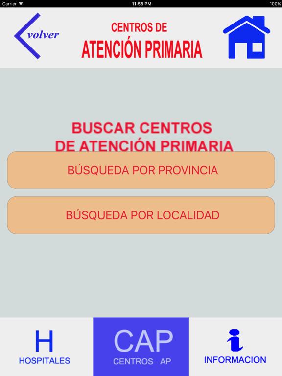 HOSPITALES Y CENTROS DE AP screenshot 9
