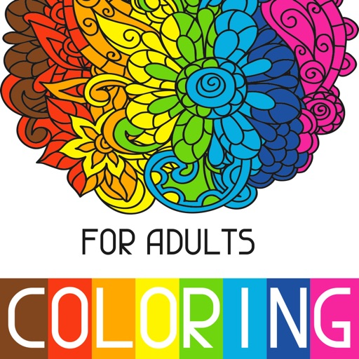 Adults Coloring Book Color Therapy for Anti-Stress iOS App