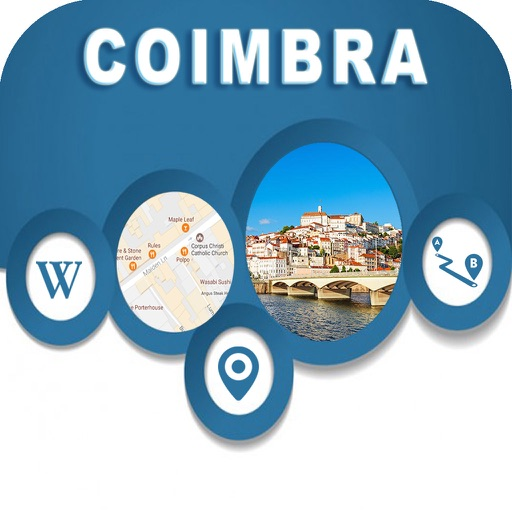 Coimbra Portugal Offline City Maps Navigation