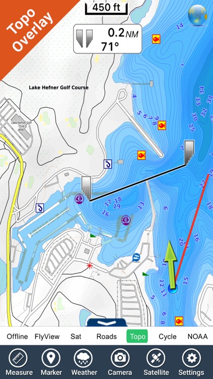 Oklahoma lakes - fishing Hd gps charts navigator screenshot-2