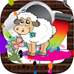 Farm animal pait : coloring pages for girls & boys