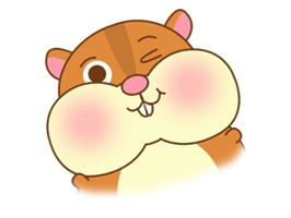 Chubby Hamster - Cute stickers for iMessage