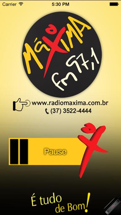 Rádio Máxima 97,1 FM screenshot one