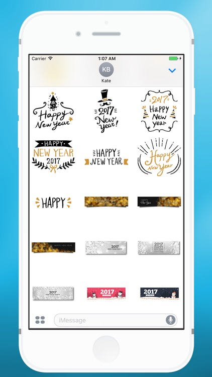 Happy New Year Message Sticker for iMessage screenshot-4