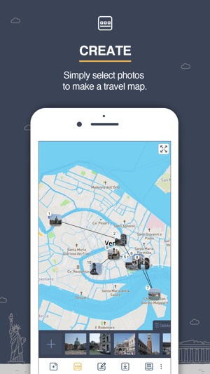 maptales the trip on a map on the App Store