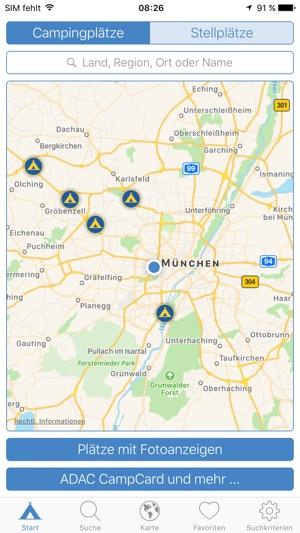 ADAC Camping- und Stellplatzführer 2017 Screenshot