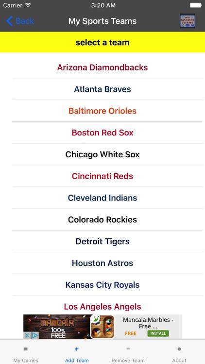 My Sports Teams screenshot-4