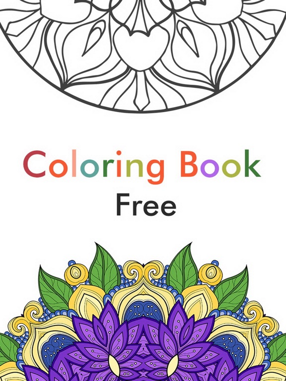 Adult Color Therapy Pages - Flower Coloring Book | App Price Drops