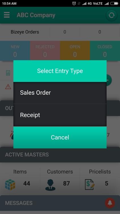 Bizeye Sales Order