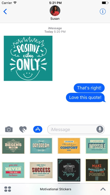 Motivational Stickers for iMessage Chat Emojis