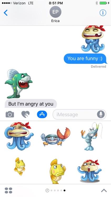 Underwater World Emojis screenshot-3