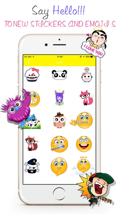 Stickers Emoji For WeChat -Avatar GIF & Fancy Text screenshot-0