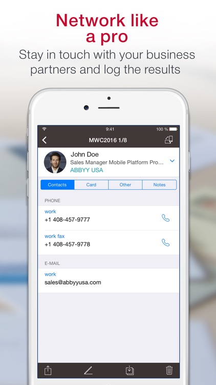 ≡ Business Card Scanner & Contacts Manager Pro