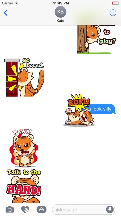 Little TIGEr Animated Stickers screenshot-3