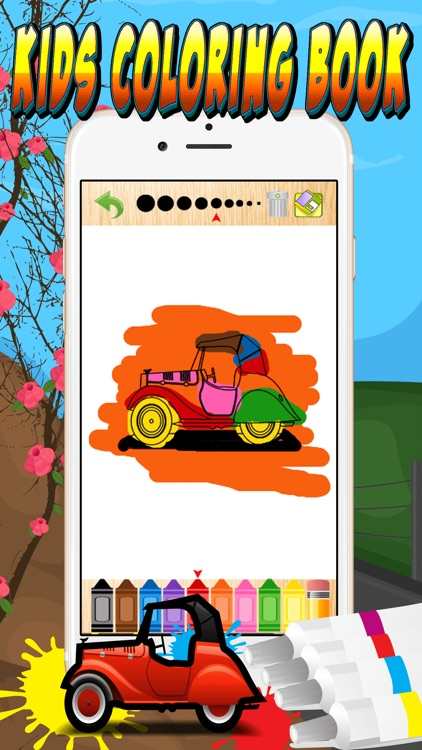 My Cars Games Free Coloring Book App For Kids