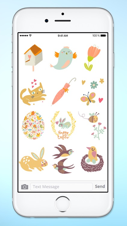 Spring and Easter Animals and More Sticker Pack screenshot-4