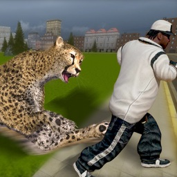 angry cheetah ready to destroy town