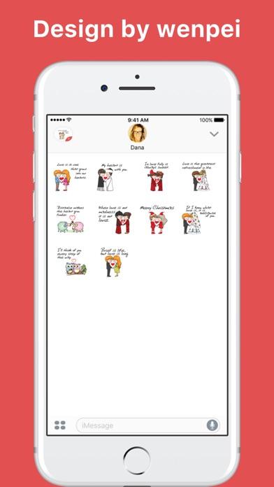 wenpeiによるLover Talkステッカーのスクリーンショット2