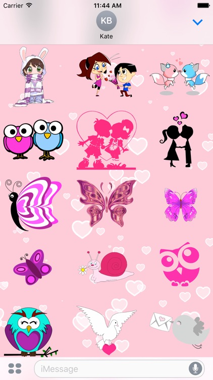 Pink Love • 100 stickers for iMessage screenshot-4