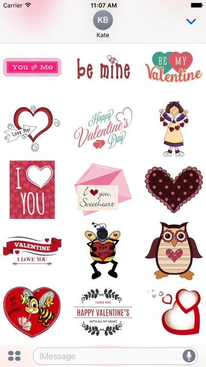 Valentine Stickers #1 for iMessage screenshot-3