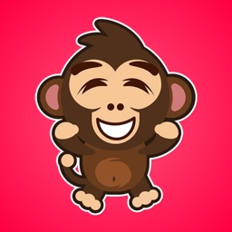Little Funny Monkey Stickers