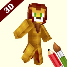 3D Animal Skin  Editor For Minecraft PE+PC