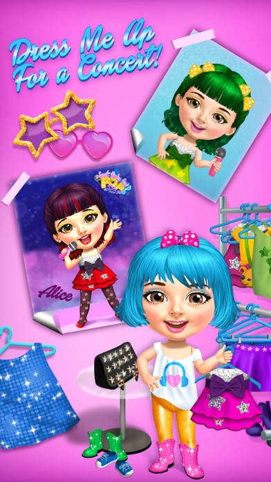 Sweet Baby Girl Pop Stars - No Ads screenshot 3