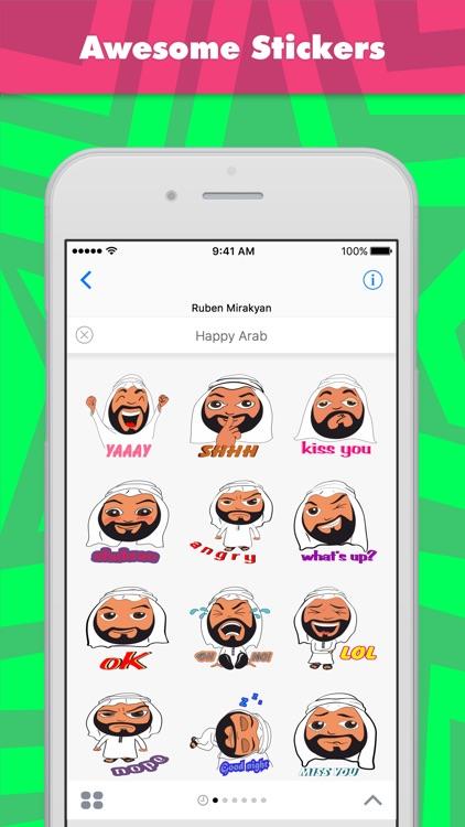 Happy Arab stickers by Mirakyan
