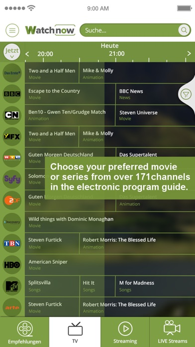 Watchnow Streaming & TV Guide | Free Mac Software