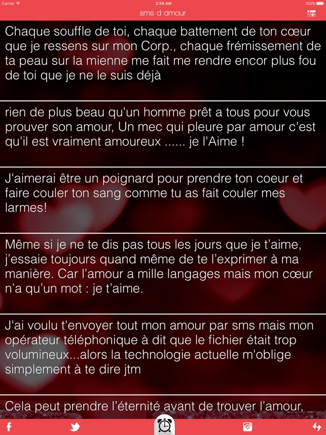 Sms D Amour On The App Store