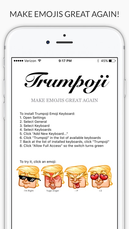 Trumpoji - Donald Trump Emoji Keyboard