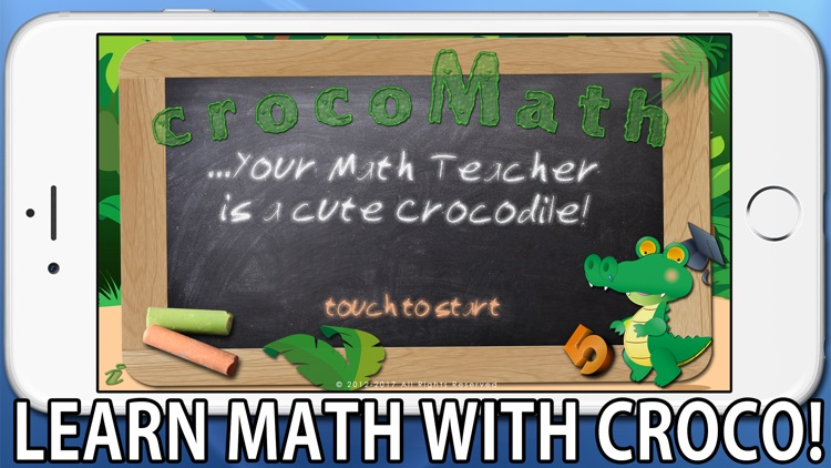 Croco Math - Your Math Teacher is a cute Crocodile