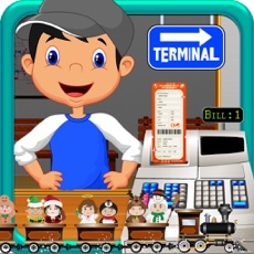 Activities of Train Station Cash Register Simulator: Kids Game