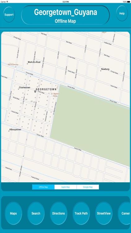 Georgetown Guyana Offline City Maps Navigation by Egate IT Solutions