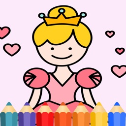 Princess & Fairy tale Coloring Book for kids