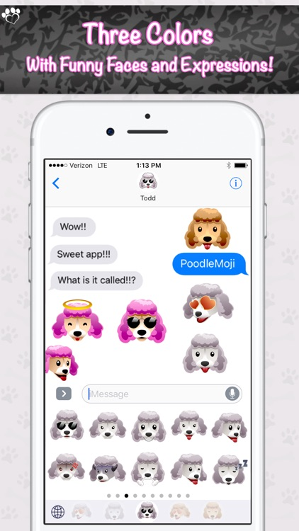 PoodleMoji - Poodle Lovers Emojis and Stickers screenshot-1