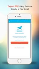 iphone screenshots - Resume App