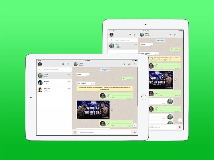 WhatsPad Messenger for WhatsApp - iPad version screenshot-4