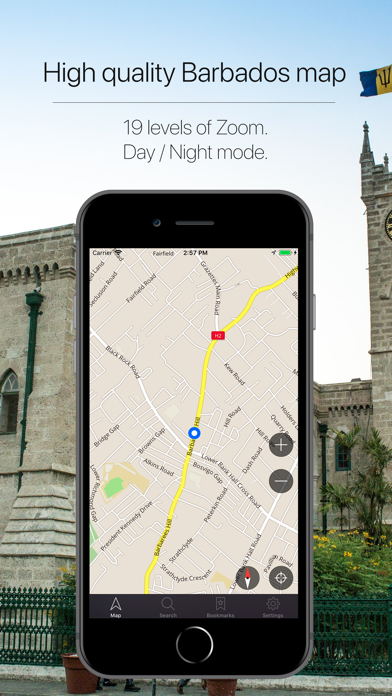 Barbados Offline Navigation Screenshot