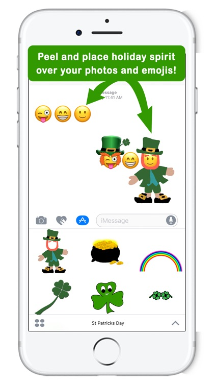 Five Little Leprechauns St. Patrick's Day Stickers screenshot-0
